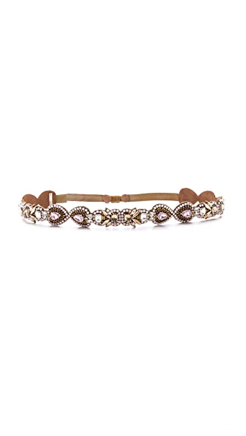 Deepa Gurnani Crystal Embellished Belt