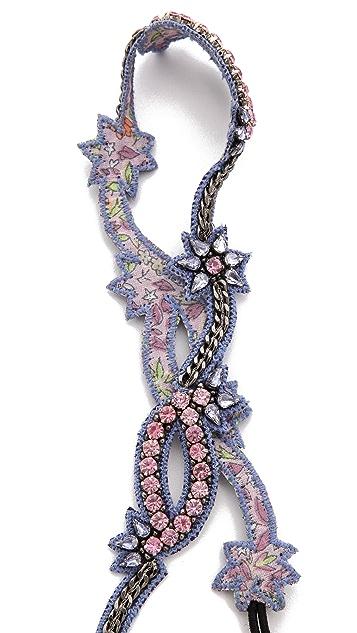 Deepa Gurnani Floral Crystal Headband