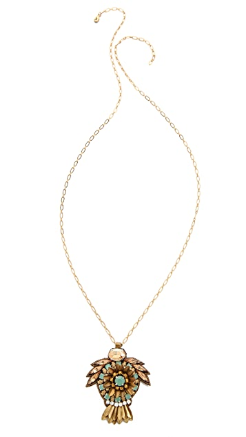 Deepa Gurnani Crystal Pendant Necklace