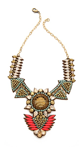 Deepa Gurnani Crystal Statement Drop Necklace