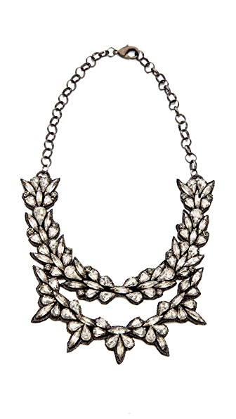 Deepa Gurnani Layered Crystal Necklace