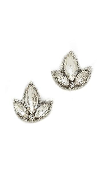 Deepa Gurnani Crystal Earrings