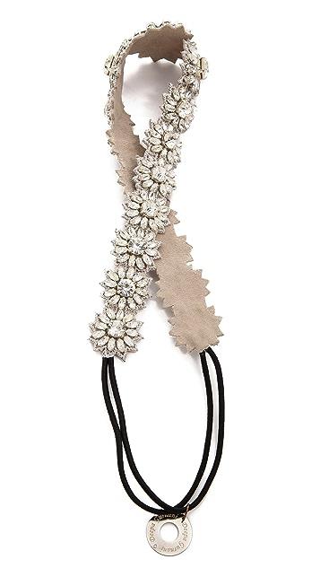 Deepa Gurnani Crystal Flower Headband