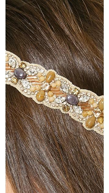 Deepa Gurnani Stone Woven Headband
