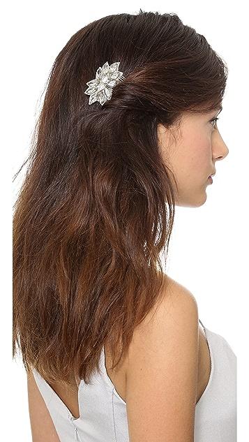 Deepa Gurnani Crystal Flower Comb