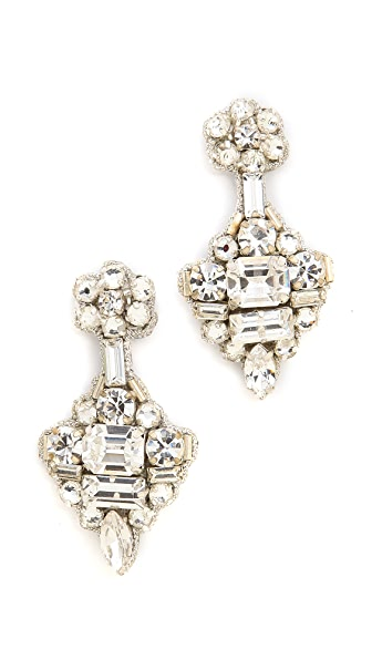Deepa Gurnani Crystal Statement Earrings