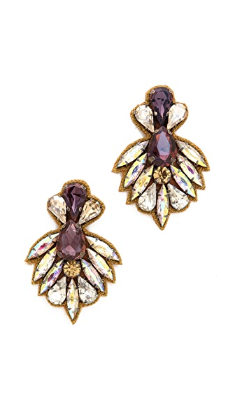 Deepa Gurnani Crystal Statment Earrings