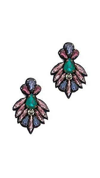 Deepa Gurnani Crystal and Stone Earrings