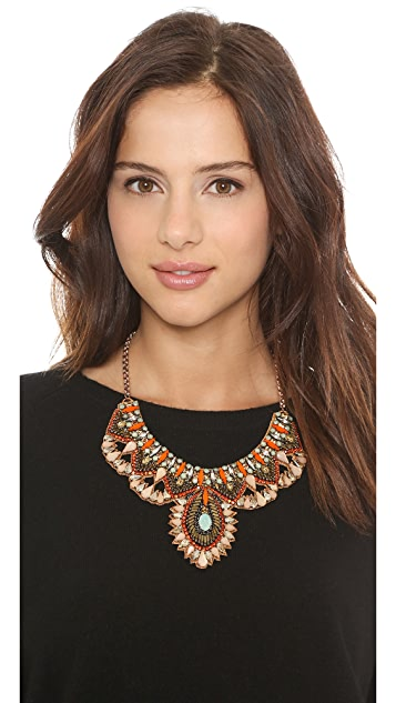 Deepa Gurnani Colorful Crystal Necklace