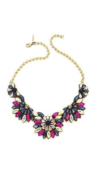 Deepa Gurnani Crystal Half Circle Necklace