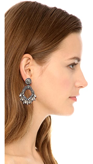 Deepa Gurnani Crystal Open Earrings