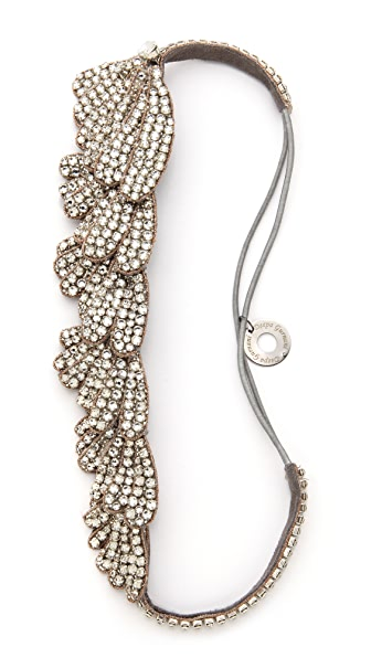 Deepa Gurnani Crystal Statement Headpiece