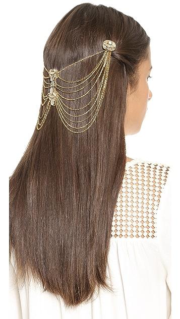 Deepa Gurnani Crystal Cascading Hair Clips