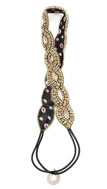 Deepa Gurnani Oval Crystal Headband