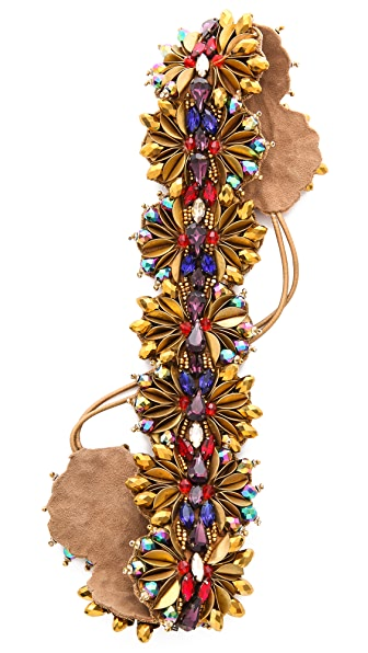 Deepa Gurnani Statement Floral Crystal Headband