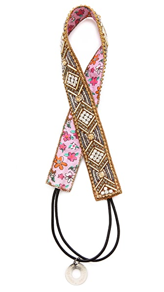 Deepa Gurnani Beaded Geometric Headband