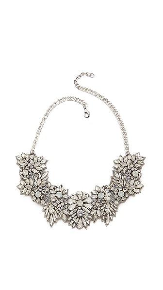 Deepa Gurnani Crystal Floral Necklace