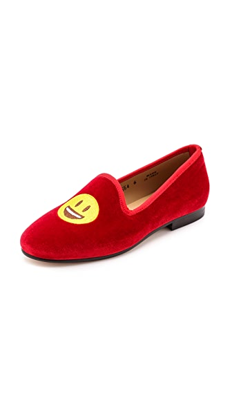 Del Toro #BeeHappy Embroidered Loafers