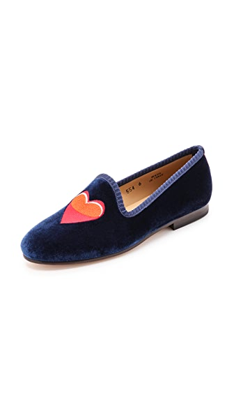 Del Toro #PuppyLove Embroidered Loafers