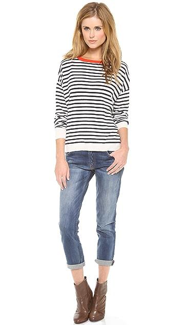 DEMYLEE Stripe Alexa Cashmere Sweater