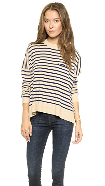DEMYLEE Stripe Bennie Cashmere Sweater