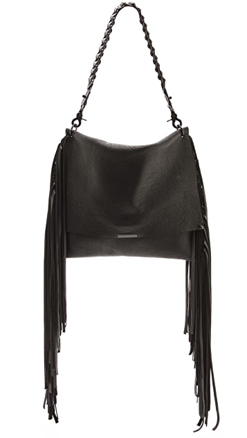 David Galan Janice Fringe Convertible Bag