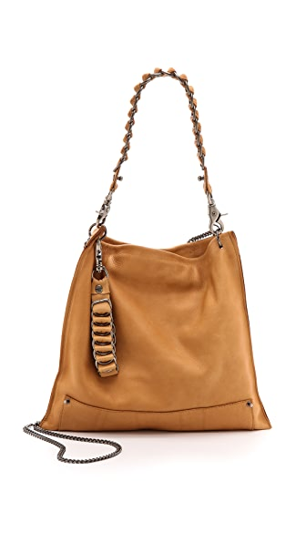 David Galan Medium Courier Hobo Bag