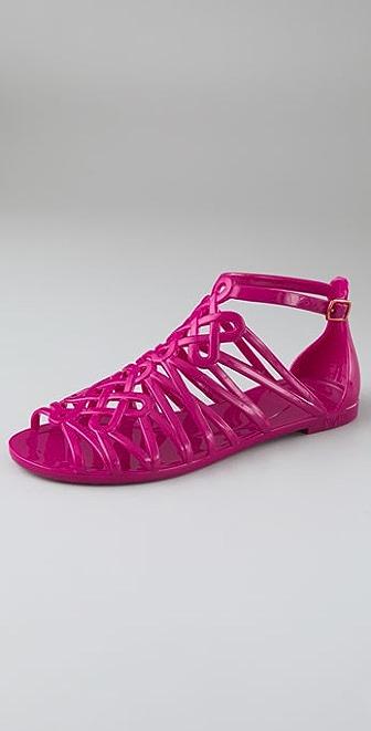 Diane von Furstenberg Jaya Love Knot Jelly Sandals