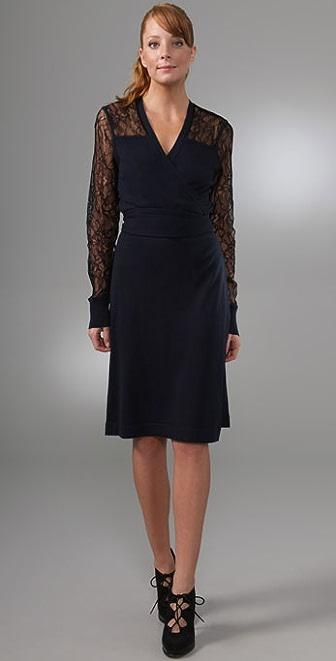Diane von Furstenberg Edwardian Wrap Sweater Dress