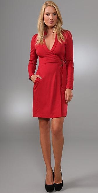 Diane von Furstenberg Biker Wrap Dress  SHOPBOP