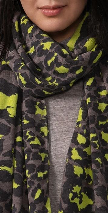 Diane von Furstenberg Meghan Leopard Scarf