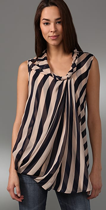 Diane von Furstenberg Striped Dugan Top