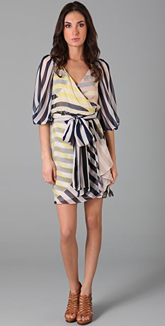 Diane Von Furstenberg Striped Ignacia Wrap Dress Shopbop