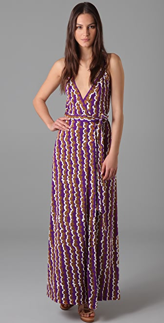 Diane von Furstenberg Samson Maxi Wrap Dress - SHOPBOP