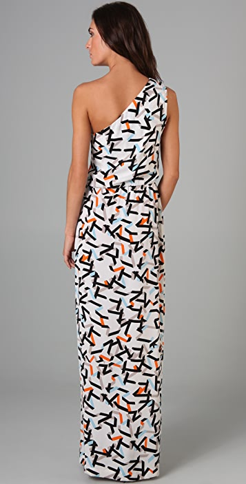 Diane von Furstenberg Agantha Print Long Dress