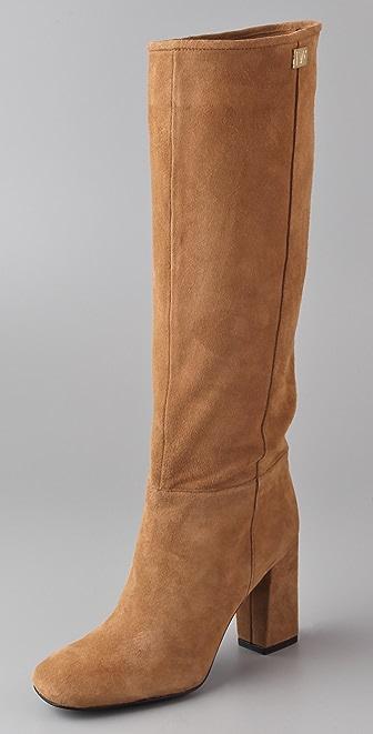 Diane von Furstenberg Youth Suede High Heel Boots