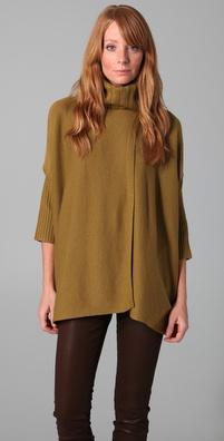 Diane von Furstenberg Ahiga Turtleneck Poncho Sweater