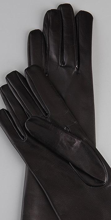 Diane von Furstenberg Cameron Long Leather Gloves