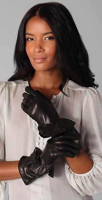 Diane von Furstenberg Clarissa Leather Gloves