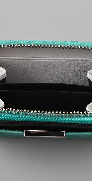Diane von Furstenberg Zip Around Python Wallet