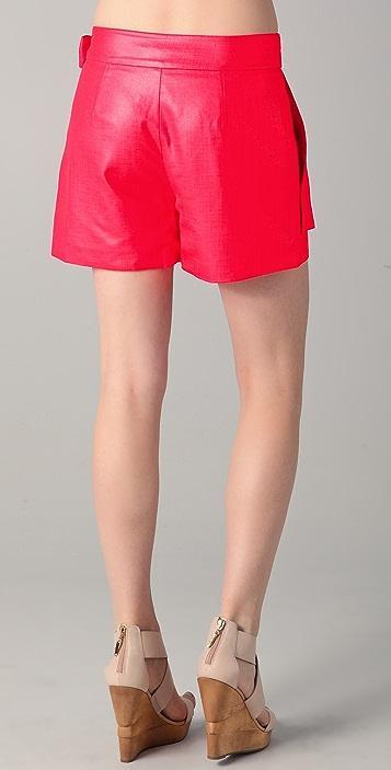 Diane von Furstenberg Folded Wrap Shorts