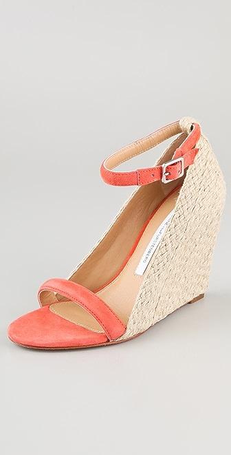 Diane von Furstenberg Tchad Wedge Sandals