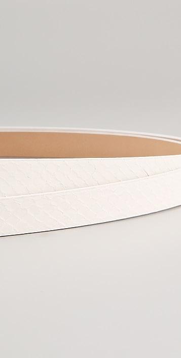 Diane von Furstenberg Haley Double Wrap Snakeskin Belt