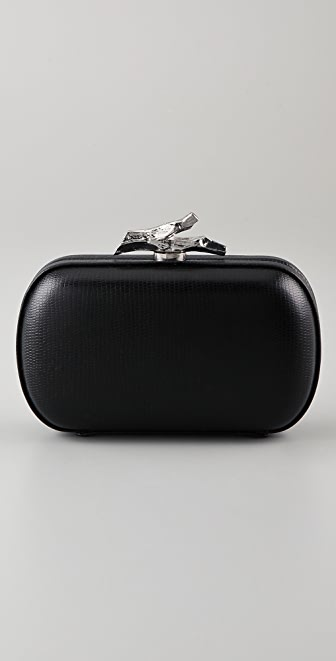 Diane von Furstenberg Lytton Small Embossed Lizard Clutch