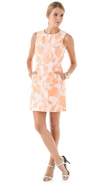 Diane von Furstenberg Carpreena Mini Rose Jacquard Dress