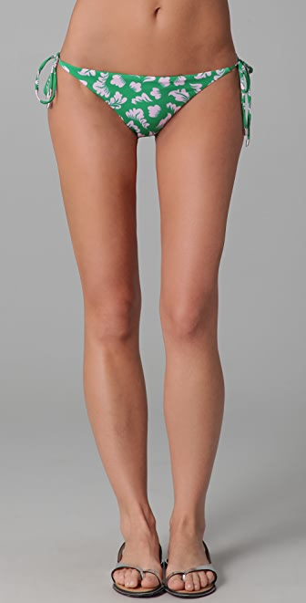 Diane von Furstenberg Deianira Vintage Print Bikini Bottoms