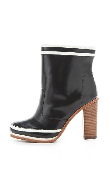 Diane von Furstenberg Spa Booties with Stacked Heel