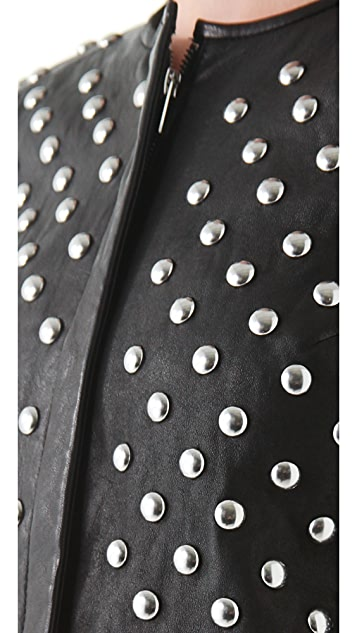 Diane von Furstenberg Kate Studded Leather Jacket