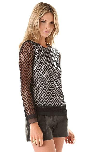 Diane von Furstenberg Syndey Lace Top
