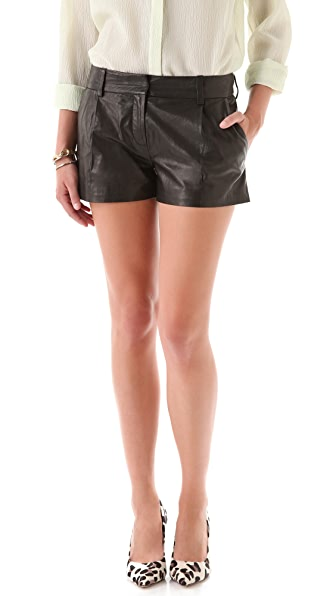 Diane von Furstenberg Naples Leather Shorts